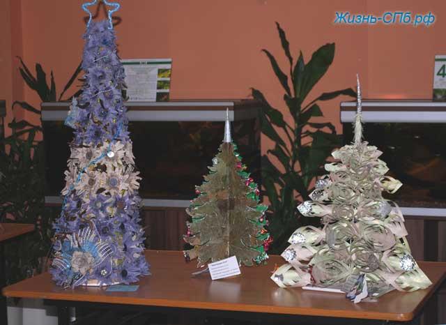 Новогодние елочки своими руками из различных материалов