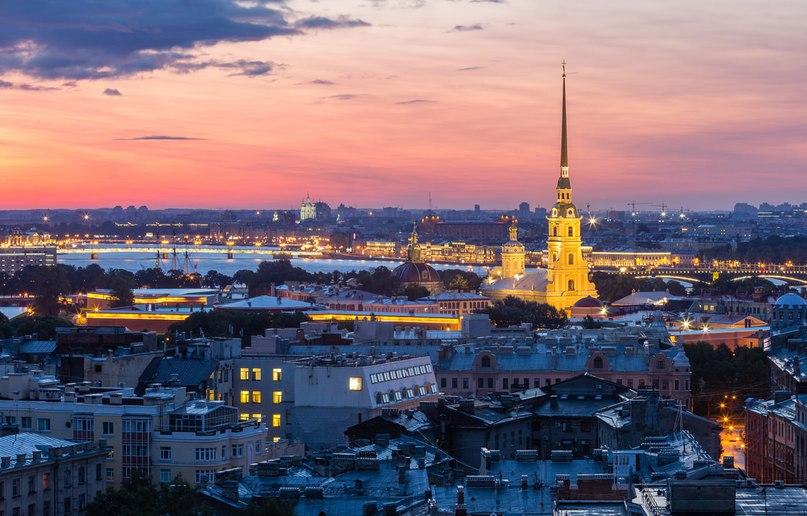 Петропавловская Крепость с высоты