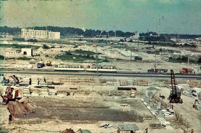 Вид на проспект Энгельса 1977-1978