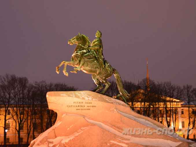 Вечерний Петербург: медный всадник памятник