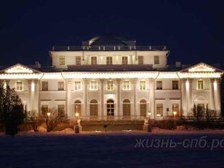 Елагин Дворец ночью с подсветкой