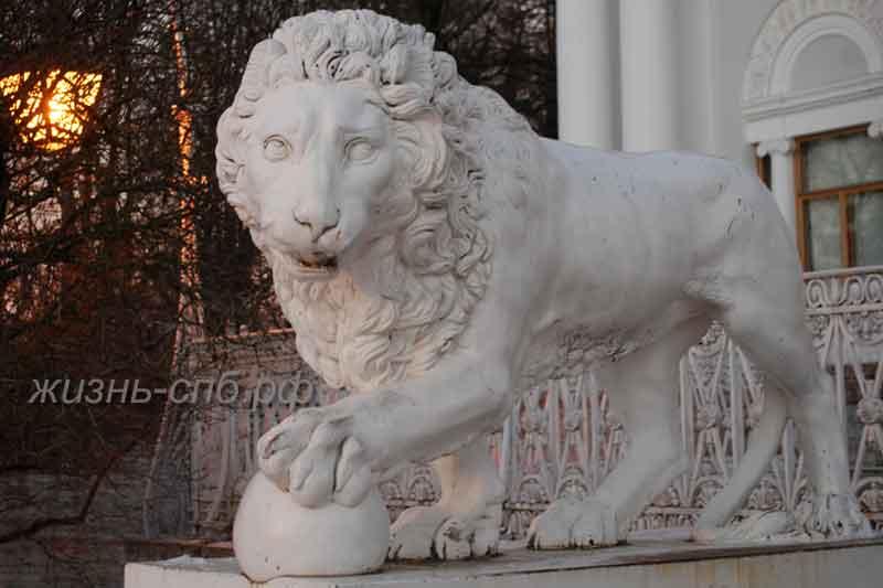 Фигуры львов у Елагина Дворца