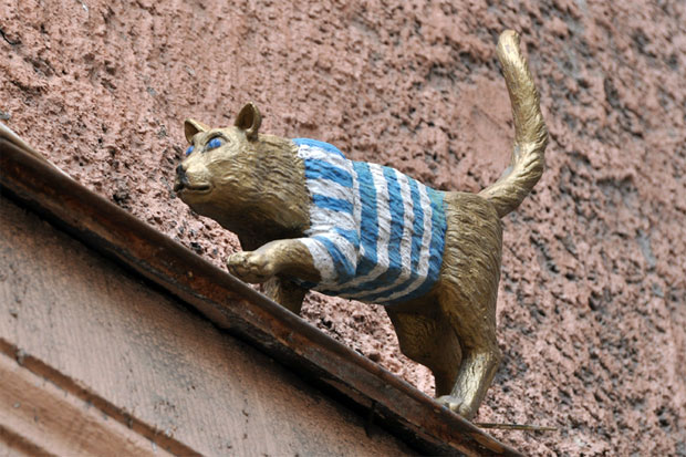 Тишка Матроскина - памятник кошке в Петербурге