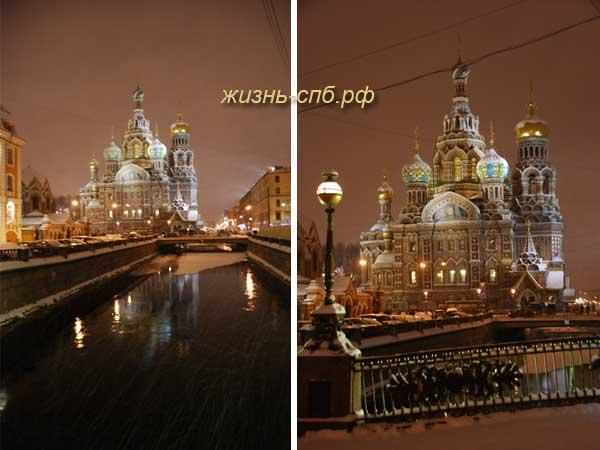 Спас на Крови - ночная прогулка по Петербургу