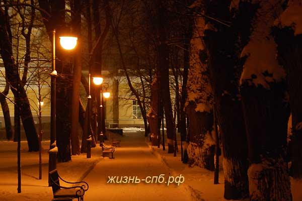 Михайловский сад - ночная прогулка по Петерубргу