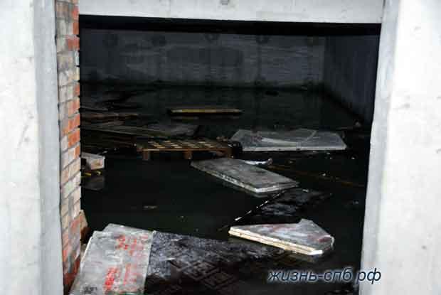 Подвал, затопленный водой