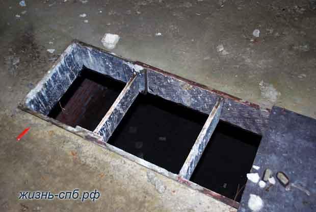Удобные дыры в полу на стройке