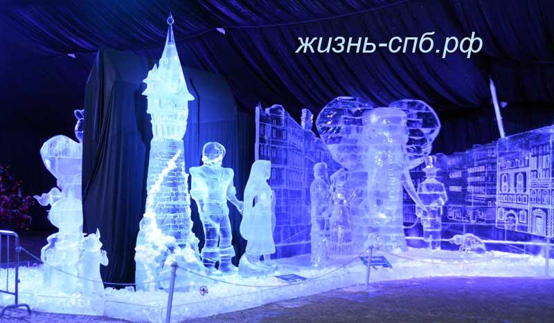 Ледовые скульптуры на Петропавловке