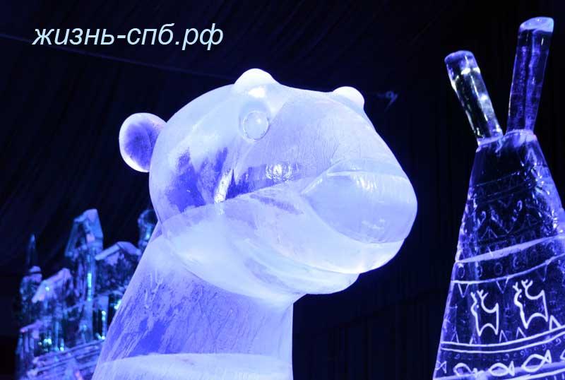 Герои мультфильма Умка из льда