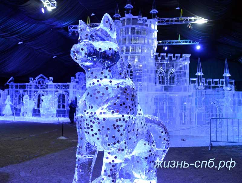 Ледовый скульптуры в Петербурге