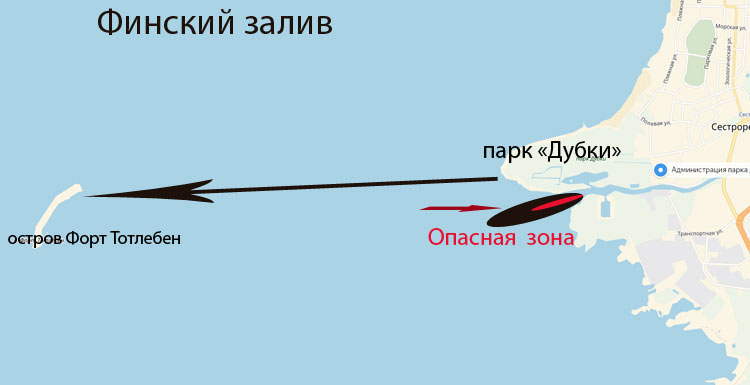 Как добраться до форта Тотлебен - карта острова