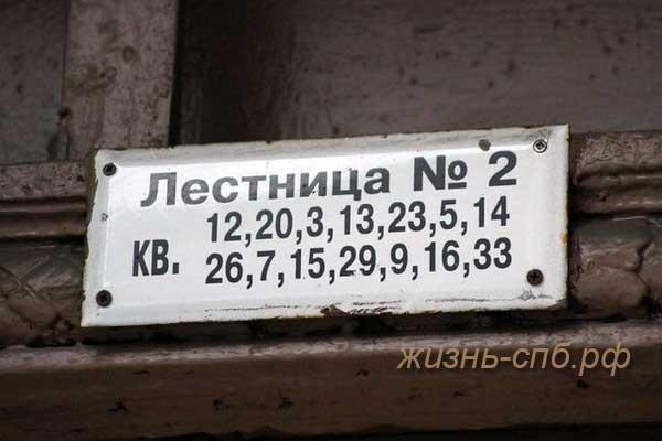 Странная нумерация квартир в домах Петербурга