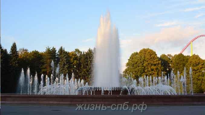 Центральный фонтан в Крестовском парке отдыха