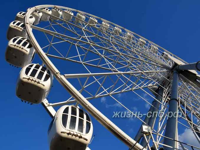 Атракционы в парке развлеений Диво остров - колесо обозрений