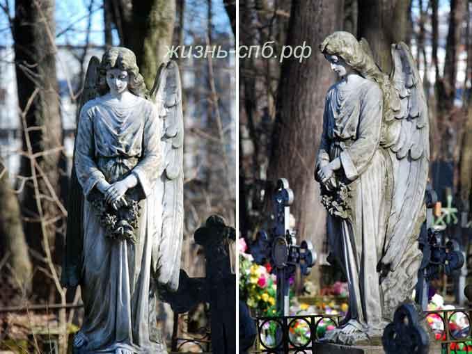 Смоленское кладбище - скульптура на могиле