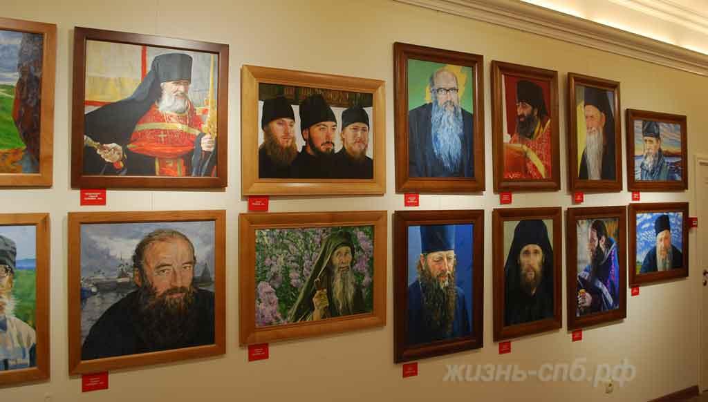 Портреты православных монахов в музее Ксении Петербургской