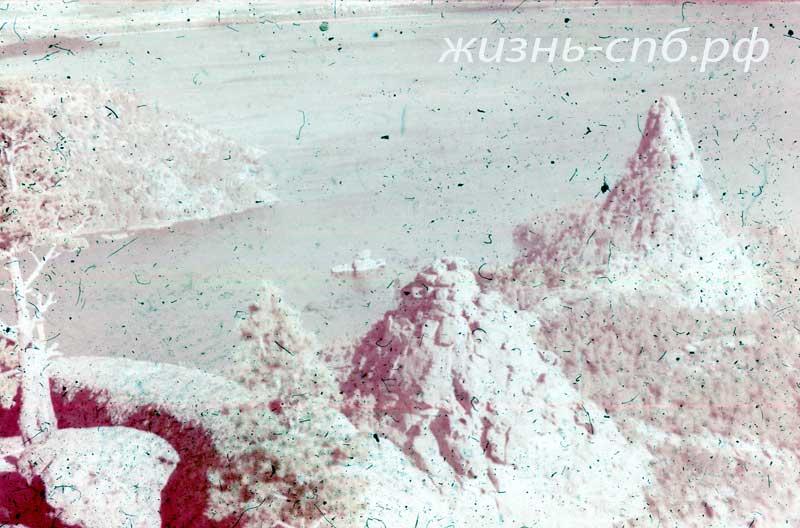 Казахская ССР. Озеро Боровое на старых диапозитивах