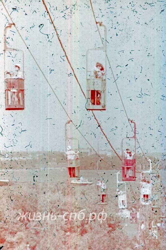 Украинская ССР в архивныйх фото. Днепропетровск. Канатная дорога через Днепр.