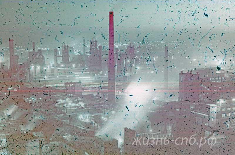 Украинская ССР. Огни Донбасса. Фото середины прошлого века