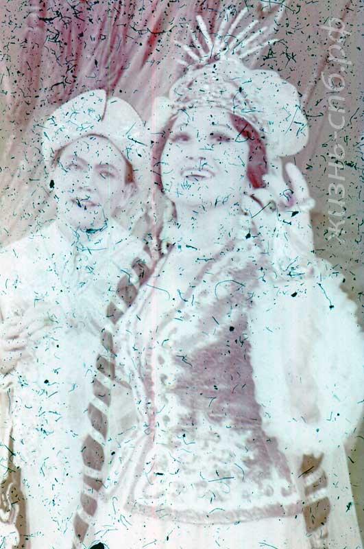 """Казахская ССР. Артисты Джаманова и Досымжанов в опере Тулебаева """"Кыз-Жибек"""". Старые фотографии прошлого века"""