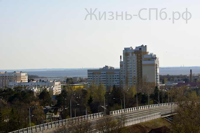 Дома Сестрорецка Вид с колокольни Петропавловской церкви