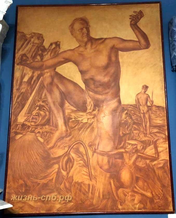 Портрет Шаляпина, А. Е. Яковлев в музей-квартире Фёдора Ивановича Шаляпина